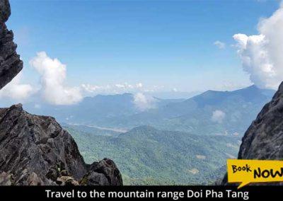 Travel to the mountain range Doi Pha Tang