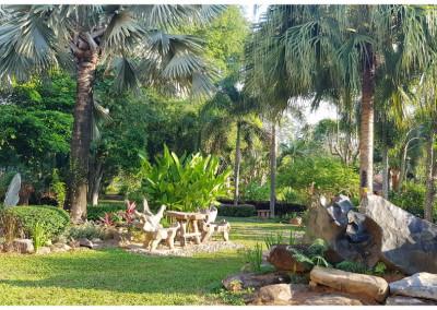 Natural garden at the resort