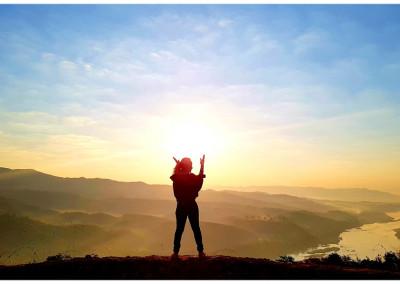 Watch the sunrise Chiang Khong